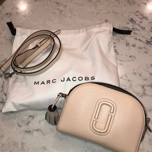 Marc Jacobs Shutter Camera Leather Crossbody Pink
